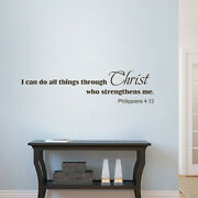 Religious Philippians 413 Wall Decal I Can Do Christ Inspired Quote Vinyl Decor