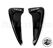 2x Black Side Wing Air Flow Fender Intake Vent Cover For Bmw X5 F15 14-17