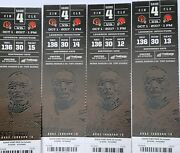 Nfl 2017 Bengal/browns Tickets X 4 Oct 1 . Row30 Sec136 Seats 12-15