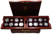 1996 Atlanta Olympics 16 Proof Gold And Silver Coin Set With Original Box And Coa