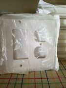 40 Leviton Decora White Gfci And Duplex Receptacle Wallplates Outlet Cover 80455-w