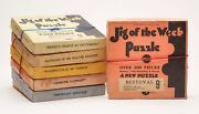 Vintage Collection Six Boxed American Jigsaw Puzzles C.1930