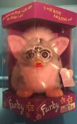 Original 1998 Furby Model 70-800 Gray With Black Spots Pink Ears And Belly Nib