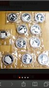 10pc China 1995-97 Traditional Culture Silver Coin Set