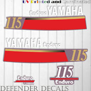 Yamaha 115 Hp Enduro Outboard Engine Decal Sticker Kit Reproduction 115hp