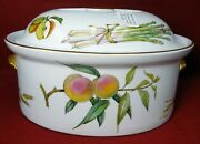 Royal Worcester China Evesham Gold Large 7.5 Pint Oval Covered Casserole - 12