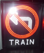 Wells Signs Inc. No Left Turn   Train Led Blank-out Sign