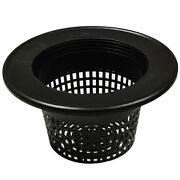 8 Round Basket Lid Net Pot With Wide Lip - Fits 3-5 Gallon Buckets - Dwc System