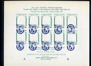 1961 Asda National Stamp Show Expo Sheet Lot With Error And Proof Sheets Lot 745