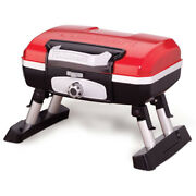 Red Table Top Gas Grill 5500 Btu Propane Portable Folding Camping Bbq Cooker New