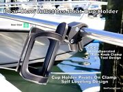 Self Leveling Boat Cup Holder - No Tools - Easy Install Hand Operated Turn Knob
