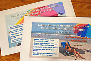 25 Sheets Double Sided Inkjet Photo Matte Paper 8.5 X 14 Legal Size 8514dpm