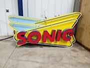 Large Neon Sign Sonic Logo 8and0396 Long 4and039 Tall And 15deep All Lighting Works