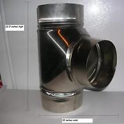 6 Inch Stove Pipe Stainless Steel Clean Out Tee -- Made In Maine Usa