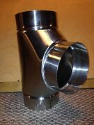 8 Inch Stove Pipe Stainless Steel Clean Out Tee Made In Maine Usa