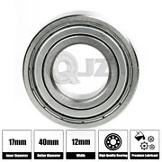 1x Ss6203-zz Ball Bearing 17mm X 40mm X 12mm Metal Sealed Stainless Steel New