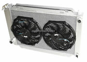 For 79-93 Ford Mustang Glx Lx Gt Svt 3 Row Aluminum Racing Radiator+12 Fans