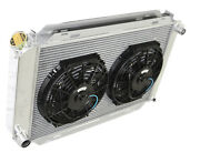 For 79-93 Ford Mustang Glx Lx Gt Svt 3 Row Aluminum Racing Radiator+10 Fans