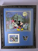 Mickey And Minnie Mouse No Turning Back Now Cel, Signed Postcard And Le Pin.