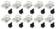 1/4 Brake Fuel Tube Set .25 Wrap Around Line Clamp Clip 10 Pack With Bolts