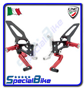 Cnc Racing Adjustable Rear Sets Red For Ducati 1199 Panigale / S 2012 2014