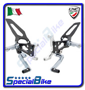 Cnc Racing Adjustable Rear Sets Silver For Ducati 1299 Panigale / S 2015