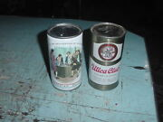 Vintage Tin Can Bank Lot Of 2 Banks Utica Club And American Bicentennial