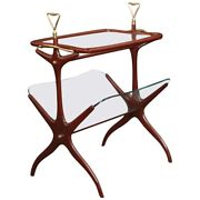 Magazine Wood And Glass Table Designed By Cesare Lacca Italy