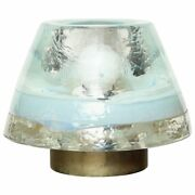 Brass And Glass Table Lamp Made By Leucos In Italy 1970