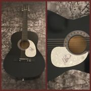 Gfa The Alarm Singer Mike Peters Signed Acoustic Guitar Proof Ad1 Coa