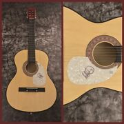 Gfa The Alarm Singer Mike Peters Signed Acoustic Guitar Proof Ad2 Coa