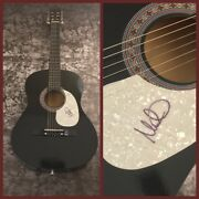 Gfa The Alarm Singer Mike Peters Signed Acoustic Guitar Proof M1 Coa