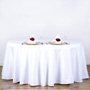 5 Pack White 120 Inch Round Tablecloths Wedding Decorations Party Table Covers
