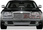 Fits Chrysler 300 300c 2005-2010 Stainless Replacement Chrome Mesh Grille Top