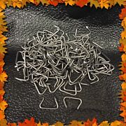 50 Hog Rings Heavy Duty Galvanized 3/4 Seat Upholstery Fence Cage Netting Traps
