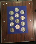 Bu0168 Italy Famous Italian People Medal Set Silver In A Frame Each Medal Cont