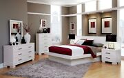 Cool Contemporary Lighted King Platform Bed And 2 Nightstands Bedroom Furniture
