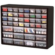 Black Plastic Craft Cabinet 44 Drawer Small Parts Hardware Storage Home Office