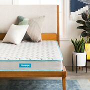 Queen 6in Inner Spring Mattress Bed Quilted Fabric Cover Firm Foam Fire Resist