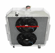 For 48-52 Ford F1-f8 Truck W/chevy L6/v8 3row Aluminum Racing Radiator+10 Fan