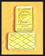 New 1 Gram 0.999 Pure Silver Bar - Watson Mint - The Lion - Local Pickup Only