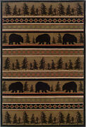 Hudson By Oriental Weavers. Transitional Lodge Area Rug. Black/beige/red 1066a