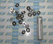 1936-1990 Chevrolet And Truck Molding, Emblem, Ornament, Mounting Clips With Tool