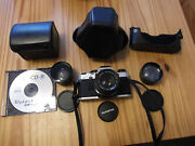 Olympus Om-10 35mm Camera With 3 Extra Lenses/case/manual/new Batteries