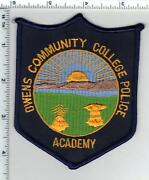 Owens Community College Police Academy Ohio Shoulder Patch From The 1980's