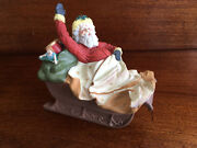 Vintage Collectible Hallmark Limited Edition The Journey Begins Santa And Sleigh