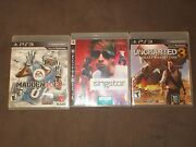 Ps3 Game Lot Madden Nfl 13, Singstar, Uncharted 3 All Games Are Complete