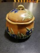 Vintage Honey Pot ~ Hand Thrown Pottery Artist Signed stoneware china