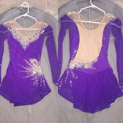 Ice Skating Competition Dress Size Adult Xs/ Child Large