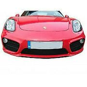 Zunsport Silver Full Grille For Porsche Cayman 981 Manual/pdk W/out Sensors